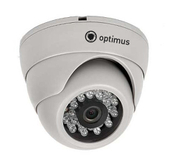 "Видеокамера IP Optimus IP-E021.0(2.8), купол, 1/3""Progressive Scan CMOS OV9712, 1Мп, ИК-20м"