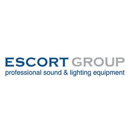 логотип Escort group professional sound & lighting equipment